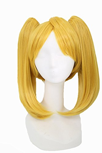Bubbles Perücke Wig Anime Cosplay Kostüm Costume Golden Haar Zubehör Hair Accessories (Powerpuff Girls Kostüm)