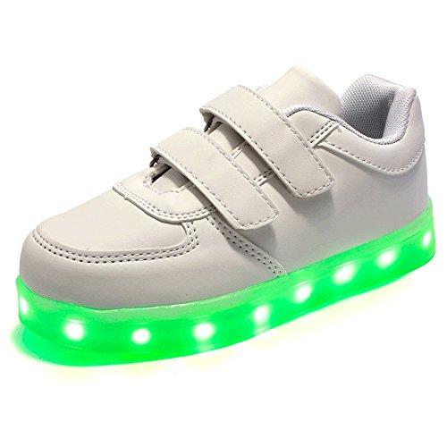 QOUJEILY , Jungen Sneaker Weiß