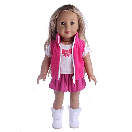 LanLan Puppen Bekleidung 18 Zoll Doll's Suit Mantel / Weste + T Shirt + Rock Puppe Kleid Zubeh?r Kleidung Serie (Nicht Enthalten Schuhe) Wir Verkaufen Nur Gl¨¹cklich f¨¹r Kinder n1339