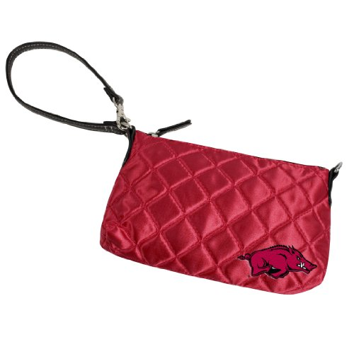 NCAA Team color Quilted Wristlet, donna, Light Red