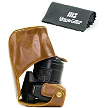 MegaGear Bolsa de Funda Protectora Para Panasonic Lumix DMC-FZ300 Cámara Compacta (Marrón Claro)