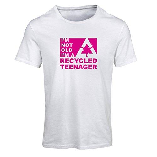 lepni.me Maglietta Donna Non Sono Vecchio Sono Un Adolescente Riciclato (X-Large Bianco