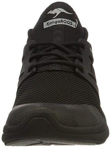KangaROOS Unisex-Erwachsene Xcape Sneaker Schwarz (Black)