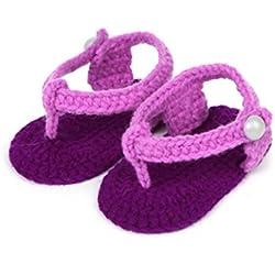 Culater® Neonate Presepe Handmade Del Crochet Scarpe Maglia (Toe clip)