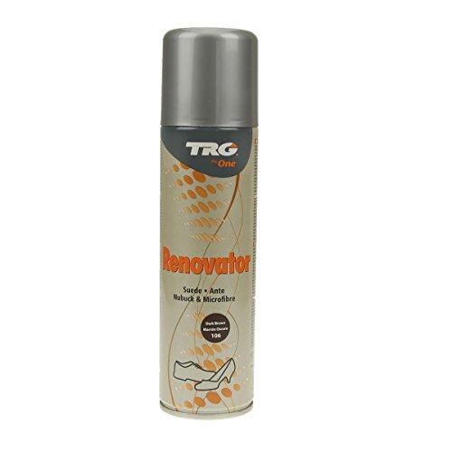 TRG Renovator Wildleder Nubuk Microfaser Pflegespray Imprägnierspray (dunkelbraun)