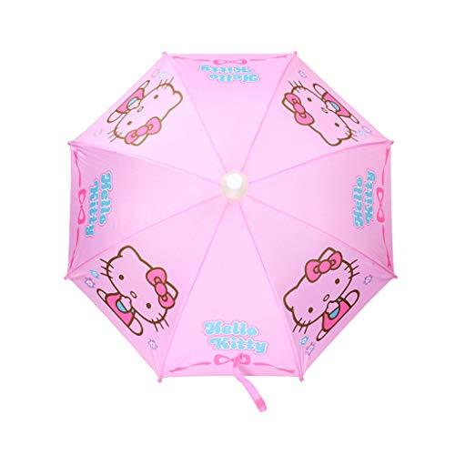 Paraguas Mango Largo Hello Kitty Infantil Recto Estudiante