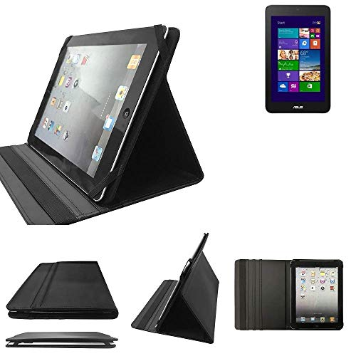 Asus VivoTab Note 8 Schutz Hülle Business Case Tablet Schutzhülle Flip Cover Ultra Slim Bookstyle Tasche für Asus VivoTab Note 8, schwarz. Kunstleder Qualitätsware - K-S-Tra