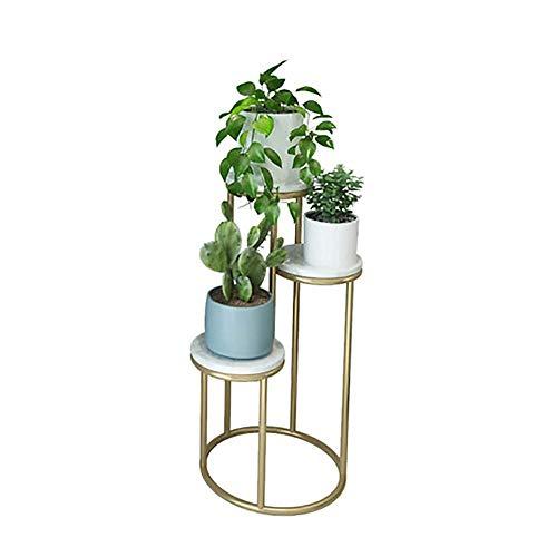 Blumenständer ZHILIAN & Mehrschichtiger Marmor Family Wohnzimmer Schlafzimmer Metall Schmiedeeisen Stand-Multifunktionsständer (Color : White, Size : 40x80cm) -