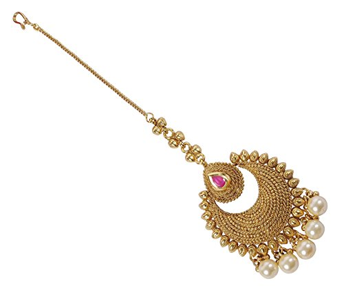 MUCHMORE Gorgeous Indian Gold Tone Polki Indian Maang Tikka Partywear Jewellery