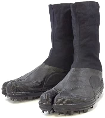 TABI CHAUSSURES NINJA DURABLE(EU38/24cm),Chaussure à Picots Noire/Shoes with Spikes!