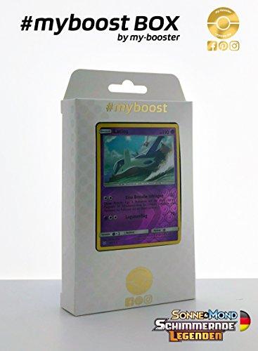 Pokemon Karten Latios Ex (Box #myboost LATIOS reverse holo 41/73 - Sonne und Mond 3.5 Schimmernde Legenden - 10 Deutsch Karten Pokemon)