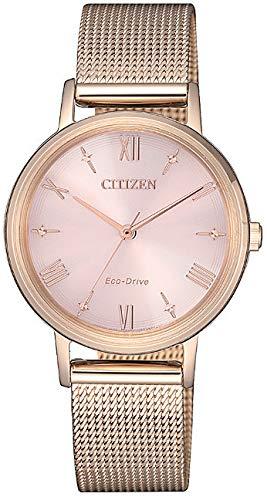 Citizen Lady - Reloj para Mujer Eco Drive Chapado Oro Rosa EM0576-80X