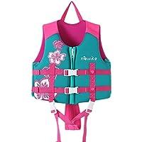 Rosenryan Chaleco de baño para niños,Chaqueta de natación para niños Traje de baño Niños Niñas Aprenden a Nadar Chaleco para 22-67 lbs