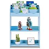 COSTWAY Librería Infantil Estante de Libros Juguetes Almacenamiento Niños Organizador...