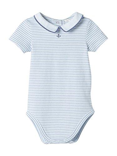 Cyrillus - Body bébé rayé rayé blanc/ciel/bleu-Rayé blanc/ciel/bleu-3M