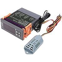 Lzndeal Controlador de humedad digital,Controlador de control de la humedad del aire digital 12V / 24V / 110V / 220V Rango WH8040 1% ~ 99%