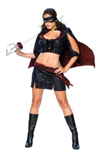 ro, Größe M (Erwachsene Lady Zorro Kostüme)