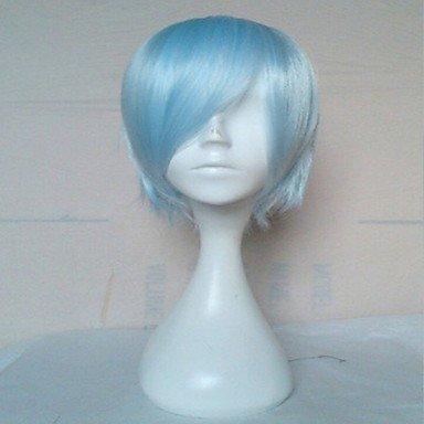 HJL-court cheveux synth¨¦tiques droite perruque bleu capless lumi¨¨re de qualit¨¦ sup¨¦rieure perruques perruque cosplay , light blue