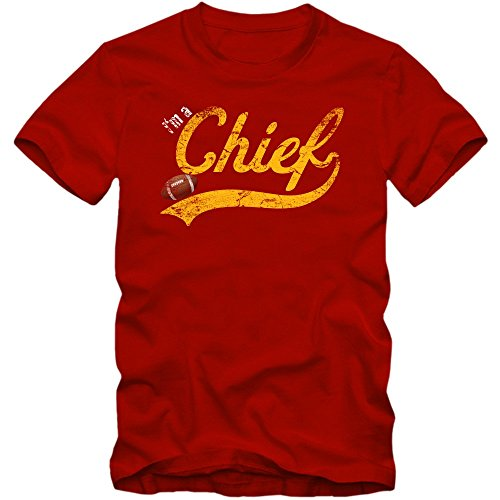 I'm a Chief #1 T-Shirt Football Herren Super Bowl Play Offs USA, Farbe:Rot (Red L190);Größe:XL Alex Smith Jersey