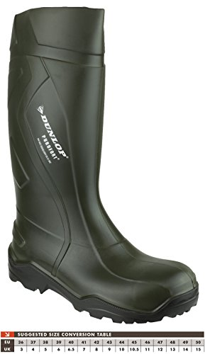 Dunlop Purofort C762933 Mens Sicherheit Wellington Grün