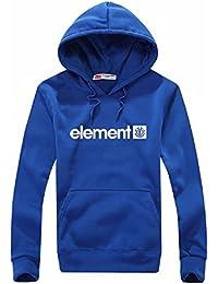 BOMOVO impresión element Sudadera con capucha para hombre Talla grande(Negro/azul/rojo)