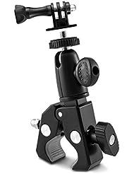 kwmobile Kamerahalterung Stativ für Fahrrad und Motorrad Lenker in Schwarz - Kamera Halter Bike - z.B. geeignet für Nikon, Canon, Olympus, Fujifilm, Kodak, Samsung, Sony, Leica, Panasonic