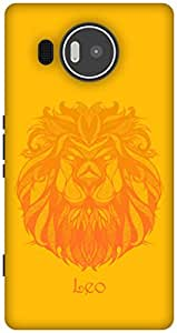 The Racoon Lean Leo hard plastic printed back case / cover for Microsoft Lumia 950 XL