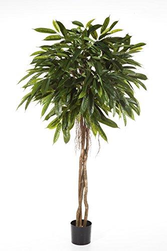 artplants – Kunst Longifolia Kugel DALIKA auf Hochstamm, 500 Blätter, grün, 180 cm – Künstlicher Zimmerbaum/Deko Baum
