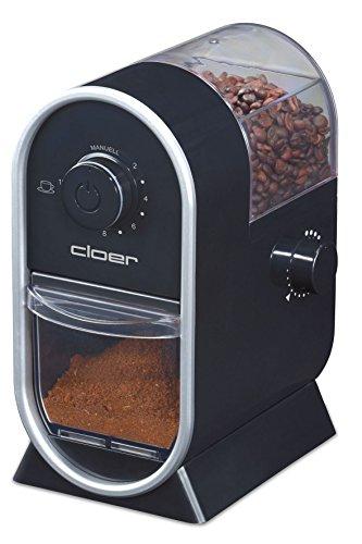 Cloer 7560 Elektrische Kaffeemühle mit Scheibenmahlwerk/100 W/für 150 g Kaffeebohnen/für 2-12...