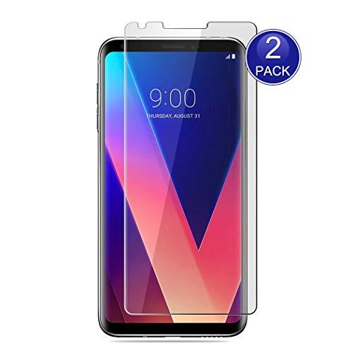 X-Dision [2 Stück Displayschutzfolie für LG V30, 0,26 mm HD Schutzfolie, 9H Glas Schutzhülle, Anti-Kratz und Anti-Fingerabdruck (Hinweis: Nicht vollständig abgedeckt)