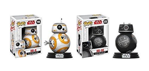 Funko POP Star Wars The Last Jedi: BB-8 and BB-9E Toy Action Figure - 2 POP BUNDLE