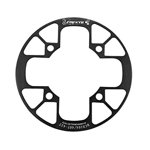 SET-SAIL Setsail Kettenschutz Zähne Ausführung Kettenrad Abdeckung Fahrradkette Fahrrad Antrieb Kurbel Kettenradgarnitur (Schwarz)