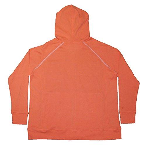 PLUS SIZE Eddie Bauer Damen Warm Strickripp Zip-Up Hoodie Beige & Orange