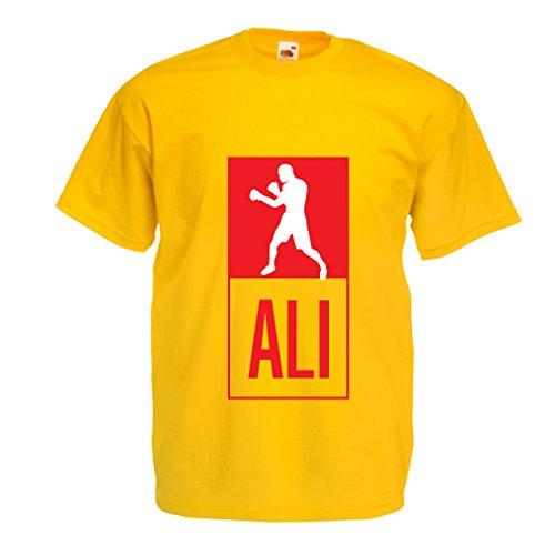 Camisetas Hombre Boxeo - en el Estilo de Lucha para Entrenamiento, Deportes, Ejercicio, Funcionamiento, Ropa de Fitness (XX-Large Amarillo