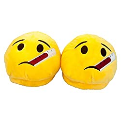 The Crazy Me Emoji Thermometer Indoor Slippers( Free Size upto 28 cm)
