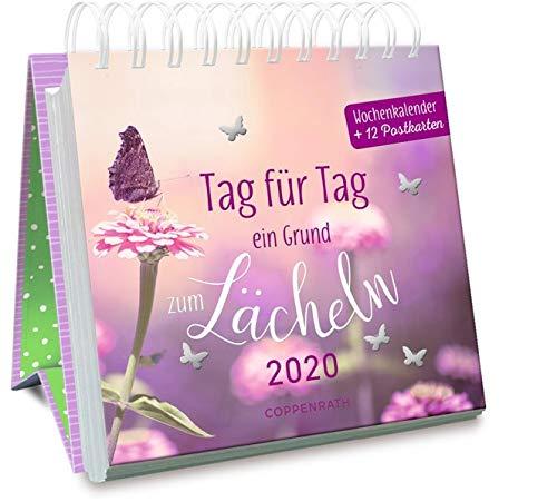 Tag für Tag ein Grund zum Lächeln 2020: Wochenkalender + 12 Postkarten (Jahreskalender)