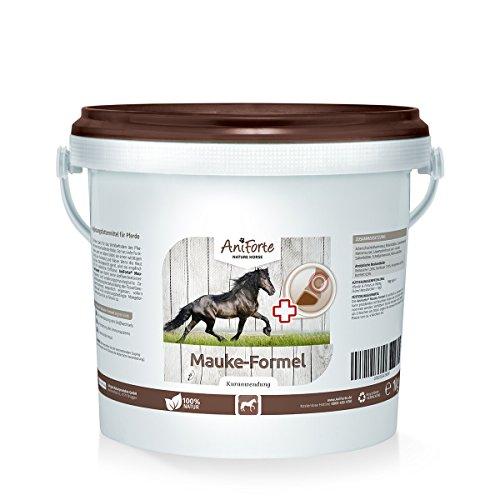 AniForte Mauke Formel 1 kg für Pferde, Zur Einfachen Pferde-Pflege, Hautpflege und Hufpflege, Stark fürs Immun-system