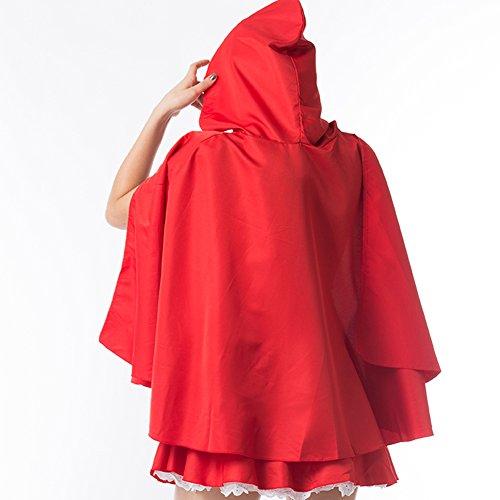 Kiwi-Rata Damen Kostüm Kleid Cosplay Dessous Set Corsage Korsett Bustier Corset Red Riding Hood Kostüm