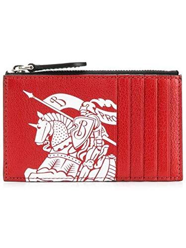 BURBERRY Herren 8005968 Rot Leder Kreditkartenetui