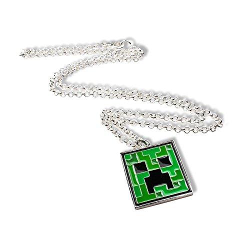 Preisvergleich Produktbild Minecraft - Creeper Anhänger mit Kette,  cooler Gamer Schmuck für Sie und Ihn