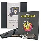 Kai Shun Premier Tim Mälzer 3-TLG.-Angebotsset TDM-W18, ultrascharfes Santoku Damastmesser (TDM-1727) + hochwertige Messertasche, handsigniertes Kochbuch