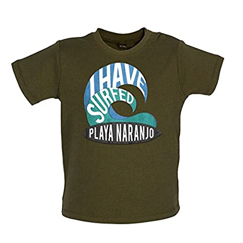 I Have Surfed PLAYA NARANJO - Baby / Toddler T-Shirt - Camouflage Green - 12-18 Months