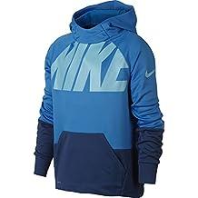 Nike B Nk Thrma Po Gfx Sudadera, Niños, Azul (Lt Photo Blue/Gym Blue), S