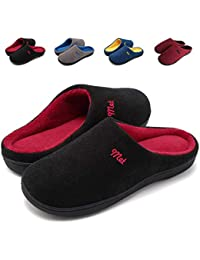 ZIITOP Zapatillas de Estar por Casa Mujer Hombre Invierno Al Aire Libre Zapatillas Caliente Slippers Interior Suave Algodón Zapatilla Mujer Hombres Casa Zapatos Unisex Adulto