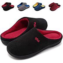 62db04671 ZIITOP Zapatillas de Estar por Casa Mujer Hombre Invierno Al Aire Libre  Zapatillas Caliente Slippers Interior