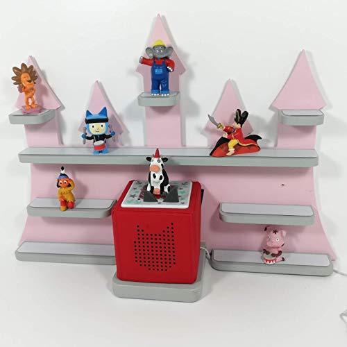 Tonie Board, Schloß *Farbwahl*, ideale Aufbewahrung für Tonie Box und Tonie Figuren, Kinderzimmer Regal, Deko Board, Musikboxaufbewahrung, Hängeregal