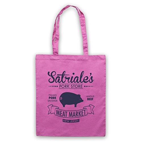 Inspiriert durch Sopranos Satriale's Pork Store Inoffiziell Umhangetaschen Rosa