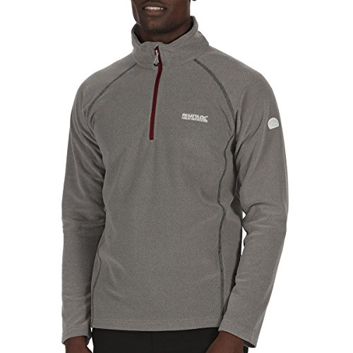 Regatta Mens Kenger Polyester Zip Neck Honeycomb Fleece Jacket