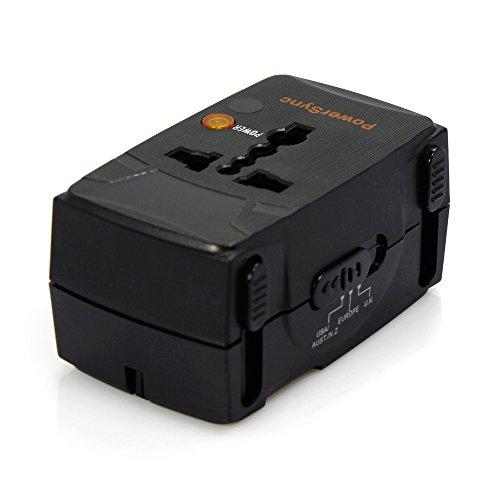 BDFA Universal World Wide Reise-Ladegerät-Adapter-Stecker, Integrierte Universal-Wand-Adapter AC-Netzteil UK UK EU-Stecker-Adapter