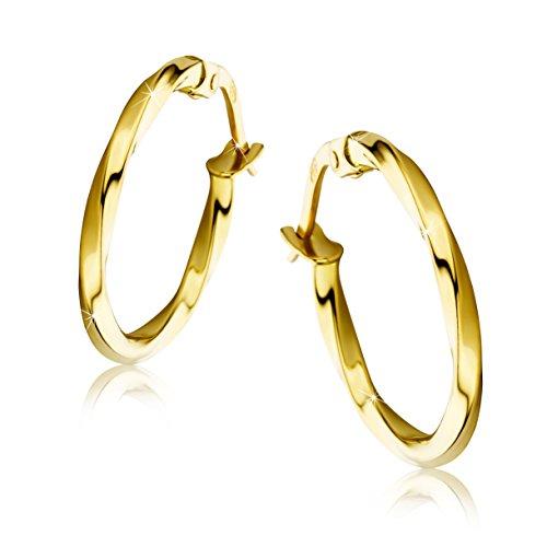 Orovi pendientes de mujer aros en oro amarillo 18 kilates ley 750